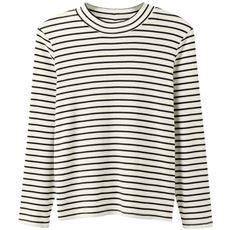 あったかシンプルハイネックTシャツ(S~5L・綿100%・蓄熱保温)