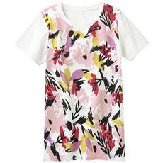 プリントロングTシャツ(S~5L・綿100%・半袖)
