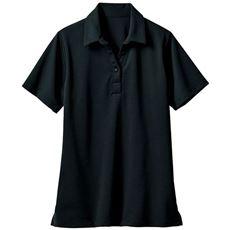 透けにくい衿付きプルオーバー(半袖)(事務服・洗濯機OK)