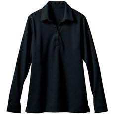 透けにくい衿付きプルオーバー(長袖)(事務服・洗濯機OK)