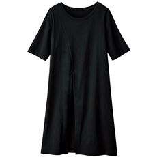 スリット入りチュニックTシャツ(綿100%)