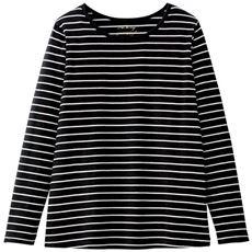 【ぽっちゃりさんサイズ】シンプルTシャツ(長袖・綿100%)