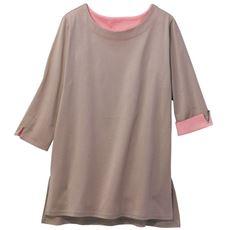 【ぽっちゃりさんサイズ】7分袖デザインTシャツ