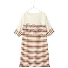 プリントゆるドルマンTシャツ(洗濯機OK)