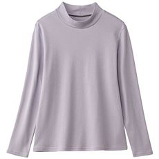 あったかシンプルハイネックTシャツ(綿100%・蓄熱保温・吸湿発熱・洗濯機OK)