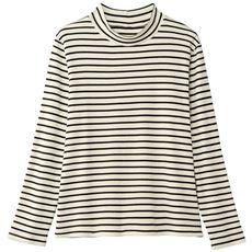 あったかシンプルハイネックTシャツ(綿100%・蓄熱保温・吸湿発熱洗濯機OK)