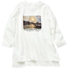 【ぽっちゃりさんサイズ】フォトプリント7分袖Tシャツ(綿100%)