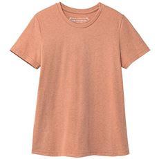 シンプルクルーネックTシャツ(半袖)(洗濯機OK)