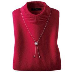 ウール100%洗えるハイネックセーター