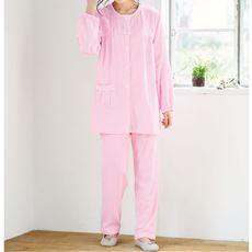 ダブルガーゼのレース付きパジャマ(綿100%)