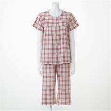 ベタつきにさよなら!夏に心地いい爽やか前開きサッカーパジャマ(綿100%)(半袖)
