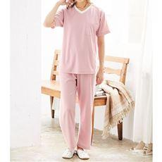 スポーティテイストの爽やかスマートドライ®半袖Tタイプパジャマ(メンズサイズ)
