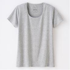 コットンモダールWフロントTシャツ