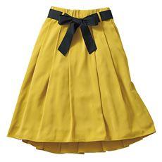 配色リボン付きフィッシュテールスカート