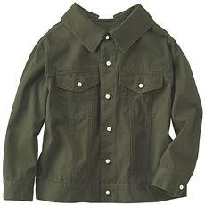 バックレースアップシャツジャケット