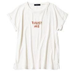 スパンコール刺しゅうTシャツ