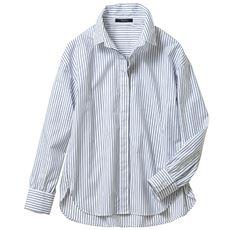 抜き襟バランスアップシャツ