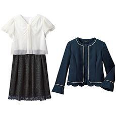 裾スカラジャケット&ワンピース