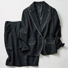 パイピングジャケット&スカート