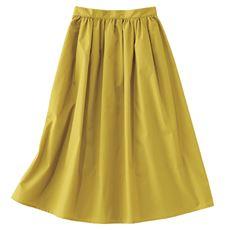 ギャザーフレアロングスカート