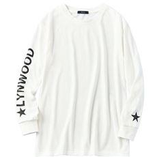 アームプリントロングTシャツ