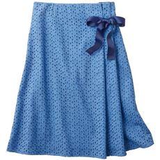 リボン使いラップ風レーススカート