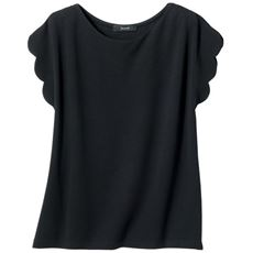 スカラップスリーブTシャツ