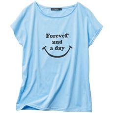 フレンチスリーブプリントTシャツ