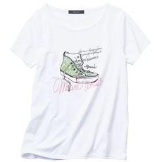 AラインプリントTシャツ
