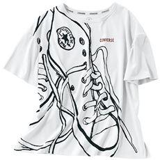 BIGプリントゆるTシャツ(コンバース)