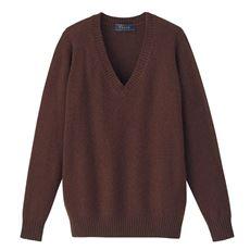 毛80%あったかVネックニットセーター(スクール・制服)