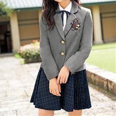 EASTBOYスーツ5点セット(ジャケット+シャツ+スカート+エンブレム+リボン)(スクール・制服)