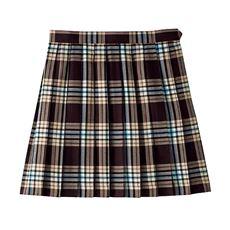 裏地・アジャスター付きチェック柄プリーツスカート(スクール・制服)