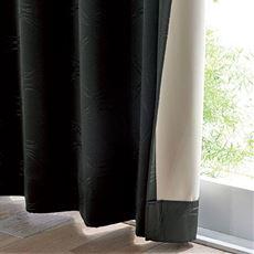 【形状記憶】遮音1級遮光カーテン(遮熱保温・上品な光沢感のサークル柄)