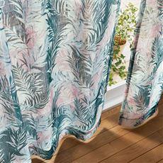 ボイルカーテン(ざっくり織ったトロピカル風)