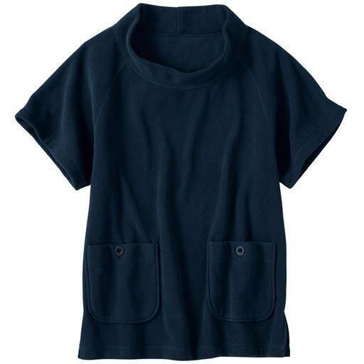 【レディース】 フリースポンチョ(洗濯機OK) - セシール ■カラー:ダークブルー ■サイズ:3LSMLLL