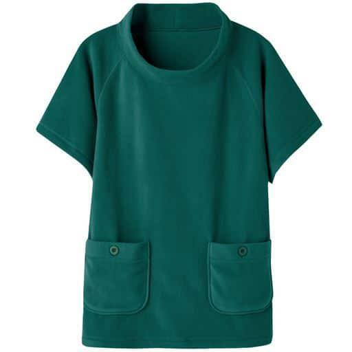 【レディース】 フリースポンチョ(洗濯機OK) ■カラー:ブルーグリーン ■サイズ:MLLL3LS