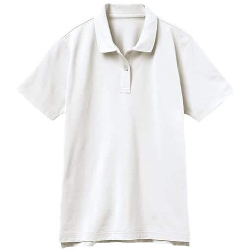 【レディース】UVカットポロシャツ(半袖)(S-5L) ■カラー:ホワイト ■サイズ:3L、M、L、LL、S、4L-5L、4L-5L