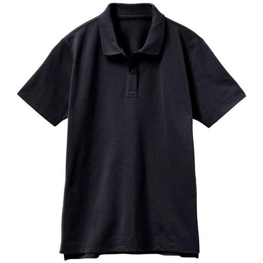 【レディース】UVカットポロシャツ(半袖)(S-5L) ■カラー:ブラック ■サイズ:L、LL、S、M、3L、4L-5L、4L-5L