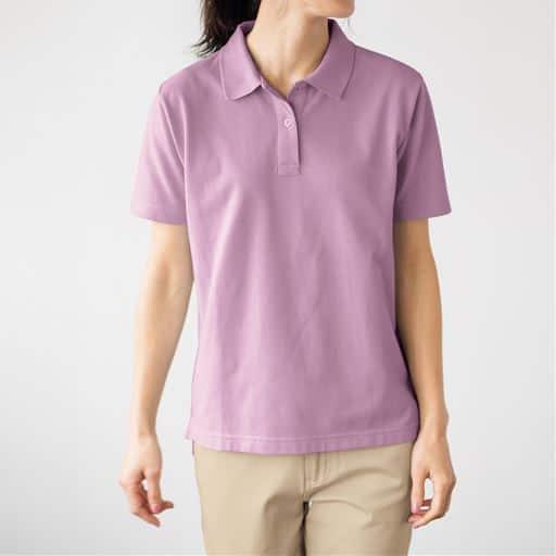 【レディース】UVカットポロシャツ(半袖)(S-5L) ■カラー:スィートパープル ■サイズ:LL、M、3L、S、4L-5L、L