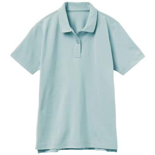 【レディース】UVカットポロシャツ(半袖)(S-5L) ■カラー:アイスブルー ■サイズ:L、3L、S、4L-5L、LL、M