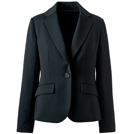 【レディース】着丈が選べるスーツテーラードジャケット(事務服・洗濯機OK) ■カラー:ブラックA(ショート丈) ■サイズ:21ABR、13AR、17ABR、19ABR、15ABR、5AP、11AR、7AR、9AR