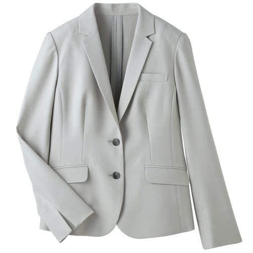40%OFF【レディース】 テーラードジャケット(CoolBestII・事務服・選べる2丈・接触冷感・吸汗速乾・洗濯機OK) ■カラー:グレーA(ショート丈) ■サイズ:15ABR,17ABR,19ABR