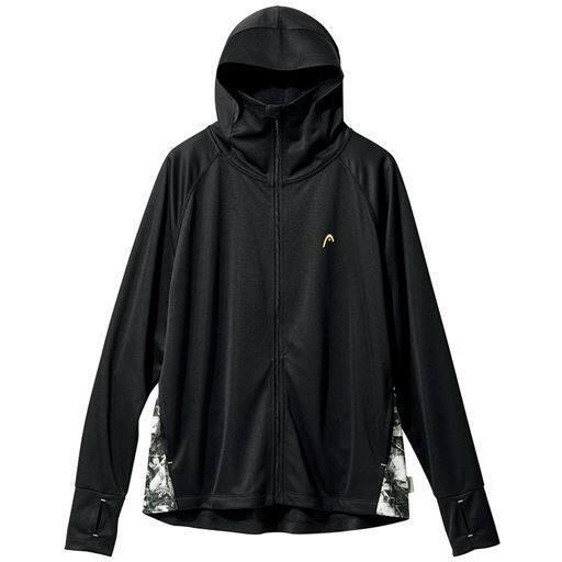 【レディース】 HEAD ネックガードパーカー(吸汗速乾・UVカット) - セシール ■カラー:ブラック ■サイズ:M,L,LL