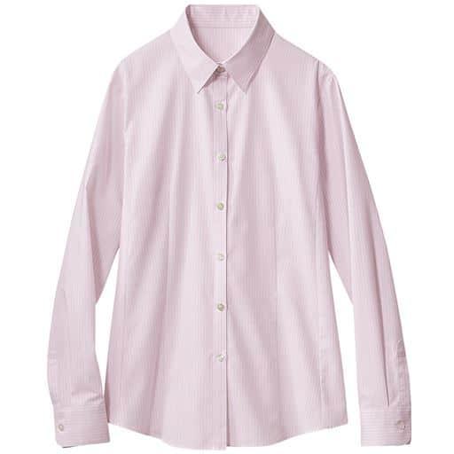 40%OFF【レディース】 形態安定レギュラーカラーシャツ(長袖)(抗菌防臭・UVカット・洗濯機OK) ■カラー:ミスティピンク ■サイズ:M,L,LL,3L