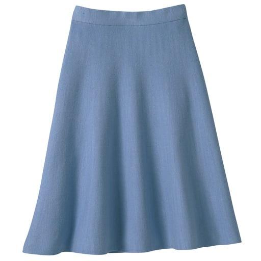 69%OFF【レディース大きいサイズ】 フレアニットスカート ■カラー:ライトブルー ■サイズ:5L,6L
