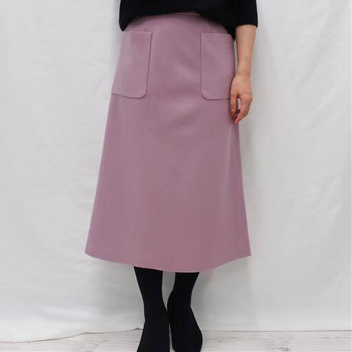 <セシール> 30%OFF! 【レディース】 ウール調Aラインスカート ■カラー:ラベンダー ■サイズ:SML