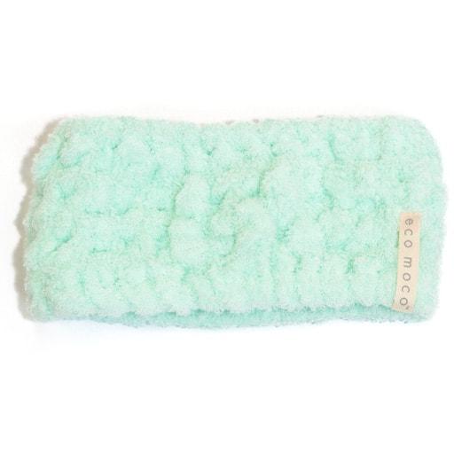 【今治産】エコモコ ヘアバンド/無撚糸のタオル生地 パイル部綿100% ■カラー:ソフトブルー