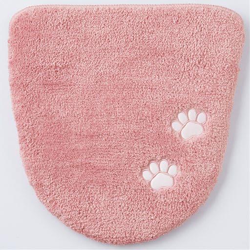 トイレフタカバー(肉球) ■カラー:ピンク ■サイズ:フタカバー/特殊型の写真