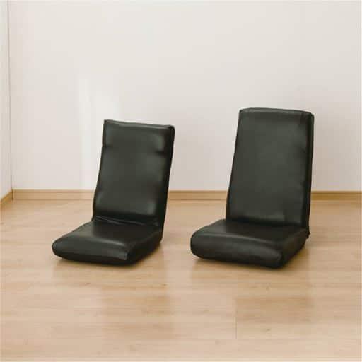 座椅子カバー(レザー調ストレッチ)のびるんフィット ■カラー:ブラック アイボリー ■サイズ:座椅子カバーM,座椅子カバーLと題した写真